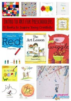 Art History for Preschoolers – Books to Study Great Artists 13 Books to Inspire Creativity in Preschool Artists – the first in our Exploring Art History with Preschoolers series Preschool Art Projects, Preschool Art Activities, Preschool Books, Kindergarten Art, Preschool Artist Theme, Preschool Prep, Camping Activities, Therapy Activities, Therapy Ideas