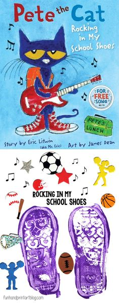Pete the Cat Shoe Print Craft for Kids