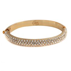 "Joan Rivers Glittering Pave Goldtone Clear Crystal 7-1/2"" Bangle #JoanRivers #Bangle"