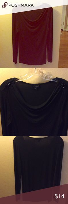Banana Republic Black tunic Versatile long sleeve Black Banana Republic top.  Dresses up any outfit. Great with jeans, slacks or skirts. 95% Rayon, 5% Spandex Banana Republic Tops Tees - Long Sleeve