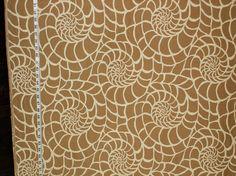 Tan seashell fabric ocean sea shell modern graphic from Brick House Fabric: Novelty Fabric Fan Image, Coral Fabric, Novelty Fabric, Sea Theme, Chair Upholstery, Fabulous Fabrics, Moorish, Curtain Fabric, Sailboats