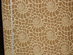 Tan seashell fabric ocean sea shell modern graphic from Brick House Fabric: Novelty Fabric