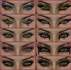 25 Halloween Make-up Ideas. Maybe running costume make up, too? Dramatic Eyes, Dramatic Eye Makeup, Cat Eye Makeup, Fx Makeup, Makeup Tricks, Beauty Makeup, Makeup Ideas, Hair Beauty, Makeup Contouring