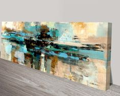 These absolutely gorgeous abstract oil on canvas paintings were created by the artist Silvia Vassileva, this one is called Morning Fjord. Abstract Oil, Abstract Canvas, Canvas Artwork, Canvas Paintings, Canvas Prints Australia, Happy Paintings, Modern Art Prints, Acrylic Art, Contemporary Art