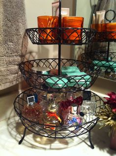 Three tiered basket for countertop organization. Target $20