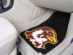 The Quincy Hawks Carpeted Automotive Floor Mat 2 Piece Set (PN 13681) will keep your vehicles floors looking great while showing your QU Hawks pride. These high quality car floor mats are made in the