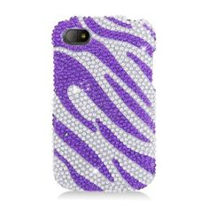 Insten Hot / Zebra Hard Snap-on Diamond Bling Case Cover For BlackBerry Q10