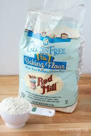 Gluten Free Focassia Bread or Pizza Crust. Preheat oven to 375- Mix 2 cups Bobs Red Mill 1 to 1 baking flour with 1 egg,1C. Water,4 t olive oil,Dash of baking powder,your favorite spices-1/4C. Milk-Mix altogther and spread on baking sheet with parchment paper! bake for about 15-25 min!