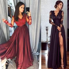 2018 Autumn Women New Lace Evening Party Ball Prom Gown Formal Cocktail Wedding Long Dress Elegant Summer Dresses, Formal Dresses For Women, Sexy Dresses, Evening Dresses, Prom Dresses, Bridesmaid Dresses, Silky Dress, Lace Dress, Gown Dress