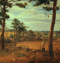 Dove Field by Brett J Smith Dove hunting in the South Dove Hunting, Hunting Art, Hunting Dogs, Wildlife Paintings, Nature Paintings, Wildlife Art, Dog Paintings, Hunting Wallpaper, Deer Wallpaper