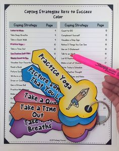 """Http: Discover Coping Strategies Keys Craftivity Coping strategies """"keys"""" for success. Great counseling tool to help kids and young adults! Coping Skills Activities, Counseling Activities, Therapy Activities, Teaching Resources, Group Activities, Emotional Regulation, Self Regulation, Elementary Counseling, School Counseling"""