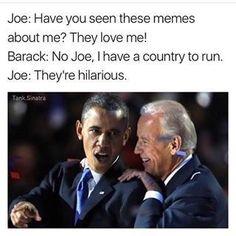 Joe Biden and Barack Obama Meme's Joe Biden Meme, Joe And Obama, Obama And Biden, Biden Obama Memes, Funny Quotes, Funny Memes, Hilarious, Jokes, Obama Funny