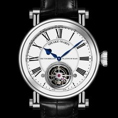 SPEAKE-MARIN Magister Tourbillon icon-brands  Magister Tourbillon features a hand-finished 60-second tourbillon in a white-lacquered dial. The platinum micro-rotor powering the automatic-winding movement can be appreciated through the display back of the grade 5 titanium case.  - See more at: http://watchmobile7.com/articles/speake-marin-magister-tourbillon