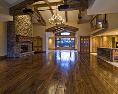 Open floor plan. Love ceiling and floor! Very beautiful!