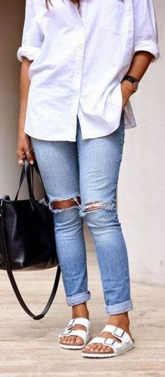 FASHION FIX: Footbed Sandals! Here's 10 chic ways to style yours!