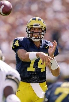 Brian Greise # 14 Michigan Wolverines QB. Rose Bow MVP, National Champions 1997. Career stats: 355 completions for 4383 yards and 71 TDs.  Can you name his back-up in 1997 Championship season?