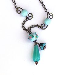 Hey, I found this really awesome Etsy listing at https://www.etsy.com/listing/152829472/beaded-brass-necklace-vintage-lampwork