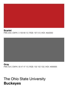 Ohio State Buckeyes Paint Colors