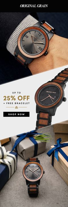 Are you looking for a new watch? Start with one of our all-time best sellers! Featuring a wide variety of all-natural wood & steel watches. Men's Watches, Fashion Watches, Men Fashion, Watches For Men, Time Zones, Grown Man, Coach Gifts, Dress Casual, Box Design