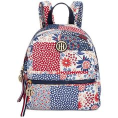 5b80045d35 Tommy Hilfiger Patchwork Small Dome Backpack ( 74) ❤ liked on Polyvore  featuring bags