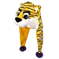 """NCAA LSU Tigers Thematic Mascot Dangle Hat by Forever Collectibles. Save 7 Off!. $16.79. LSU Tigers. Officially Licensed. H10NCTH12DNGLSU NCAA Team: LSU Features: -Made of Polyester.-Authentic NCAA team league. Color/Finish: -Official name team Mascot color and logo. Dimensions: -Dimensions: 9"""" H x 10"""" W x 15"""" D."""
