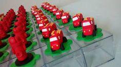 Image result for caixinha de acrilico enfeita com biscuit tema bombeiros