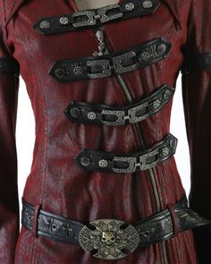 PUNK RAVE SHADOW MENS JACKET - RED