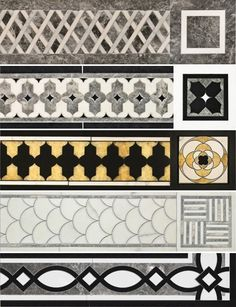 Printing Education For Kids Printer Code: 2972438626 Marble Mosaic, Marble Floor, Mosaic Tiles, Floor Patterns, Mosaic Patterns, Floor Design, Tile Design, Entry Tile, Vintage Bathroom Decor
