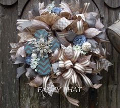 Cross Wreath Everyday Wreath Year round Wreath by FancyThatDecor