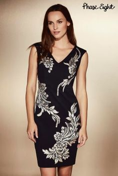 Phase Eight Black Gracie Lace Dress