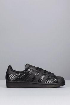 Sneakers noires imprimées reptile Superstar