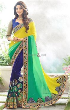 boat neck blouse pattern with matching modish half sarees in bangalore