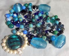 Glass beads bead lots Mixed beads glass pearls by RosariesbyEsther