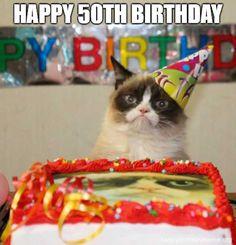New Funny Happy Birthday Animals Grumpy Cat Ideas Grumpy Cat Quotes, Grumpy Cat Memes Clean, Grumpy Cat Humor, 50th Birthday Meme, Grumpy Cat Birthday, Zombie Birthday, Birthday Cake, Birthday Nails, Memes Humor