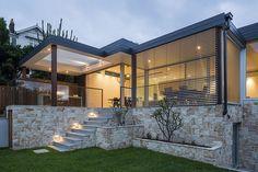 Outdoor Tiles, Subway Tile Backsplash, Architect House, Travertine, Evo, Pergola, Exterior, Outdoor Structures, Mansions