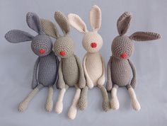 funny crochet bunnies