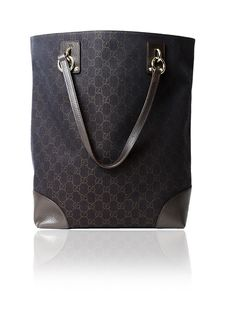 0bbdecdf7bf Gucci Brown Canvas Tote Bag With Leather Trim  675.00  http   www.boutiqueon57