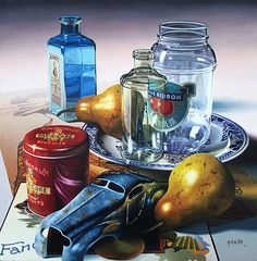 gary cody artist | Blue Car And Red Tin by Gary Cody