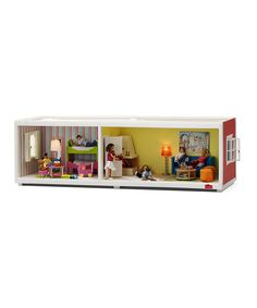 Little decorators delight over this exciting extension floor that features windows that open and is prepared for electricity. Add even more fun to the initial play house that adorable architects love to decorate!Dolls and accessories not included26'' W x 9.8'' H x 8.3'' DPlasticRecommended for ages 3 years and upImported