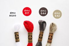 DMC Color Combo: Winter Trees by wildolive Dmc Embroidery Floss, Diy Embroidery, Cross Stitch Embroidery, Cross Stitch Designs, Cross Stitch Patterns, Cross Stitch Floss, Wild Olive, Color Palate, Colour Pallette