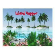 Tropical Paradise Island Postcard - postcard post card postcards unique diy cyo customize personalize