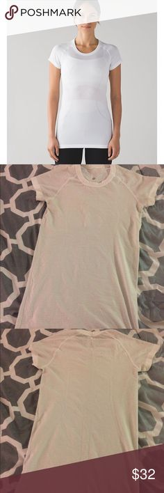 lululemon swiftly tech short sleeve crew Too tight on me, barely worn lululemon athletica Tops