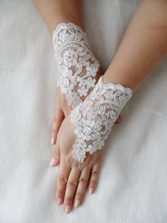 bridal lace gloves fingerless gloves bride gloves by WEDDINGHome, $35.00