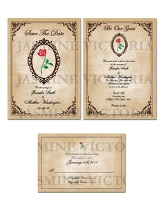 Be Our Guest Wedding Invitation, Save The Date, or RSVP Digital Files