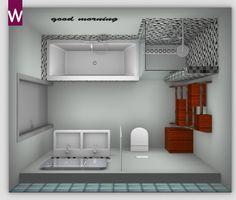 Unieke badkamer met mozaïek tegels