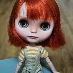 I do love red haired girls! This pretty will be available in my #Etsy store soon. She just needs an outfit... #Blythe #doll | von Pliskytrix