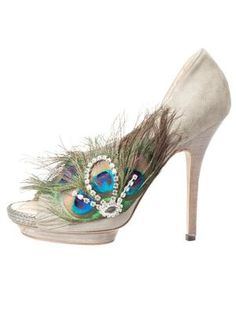 Cool Pretty Prom Dresses Peacock Shoe...I could totally make this with an old pair of heels.... Check more at http://24shopping.cf/my-desires/pretty-prom-dresses-peacock-shoe-i-could-totally-make-this-with-an-old-pair-of-heels-2/
