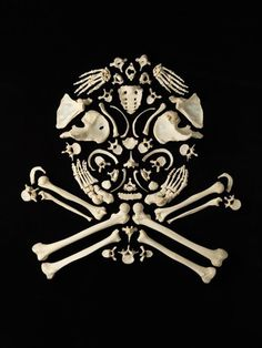 Francois Robert creates iconic shapes, using dozens of real human bones. // Art is art, no matter what you use.