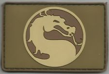 DRAGON HEAD COMBAT TACTICAL BADGE DARK OPS MORALE PVC VELCRO MILITARY PATCH