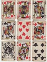 Playing cards found in the crypt of Sts. Cyril & Methodius after the battle of 18 June 1942.